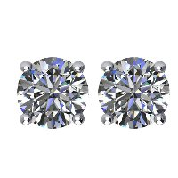 Item # E71501WE - 18K Diamond Stud earrings 1.50ct