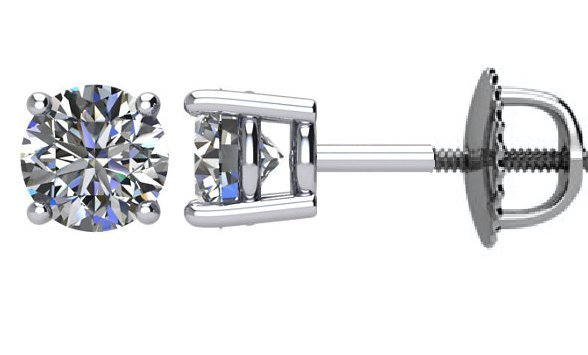 18K Diamond Stud earrings 1.50ct