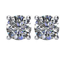 Item # E72001PP - 2.0 ct. Platinum Round Diamond Earrings