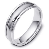 Item # F119591WE - 18K White Gold Wedding Band