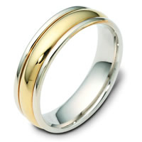 14K Two Tone Wedding Band