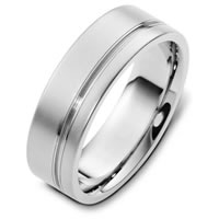 Item # F125751W - 14K White Gold Unique Wedding Band