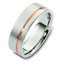 14 K Two Tone Gold Wedding Band