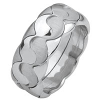 Item # F30512020W - Wedding Band, Yin - Yang