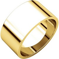 Plain 18K Yellow Gold 10mm Wide Wedding Band