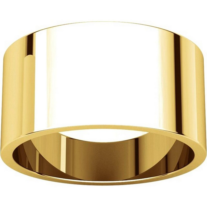 Item # F33661E - 18K Yellow Gold 10mm Wide Wedding Band View-3
