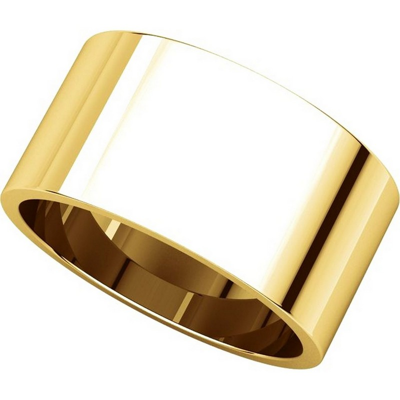 Item # F33661E - 18K Yellow Gold 10mm Wide Wedding Band View-4