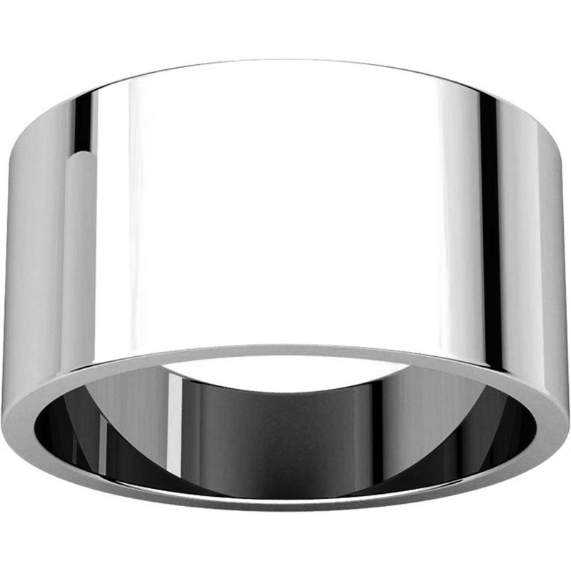 Item # F33661PP - Plain Platinum 10 mm Wide Wedding Band View-3