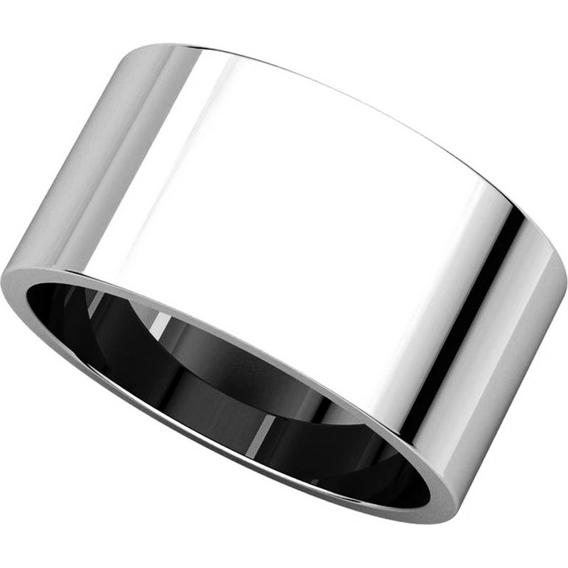 Item # F33661WE - 18K White  Gold 10mm Band View-4