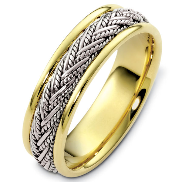 Two-Tone Handcrafted Wedding Band