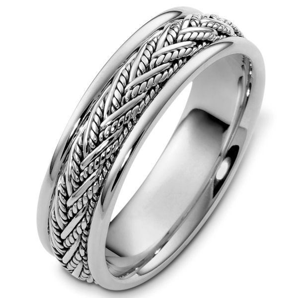 White Gold Handcrafted Wedding Band