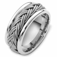 Item # G125901W - 14 K White Gold Handcrafted Wedding Ring