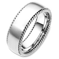 Item # G126291W - 14 Kt White Gold Wedding Band