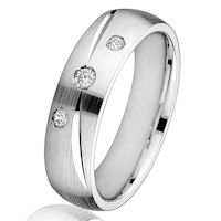 14Kt White Gold Diamond 0.11 CT TW Ring