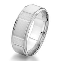 Item # G87115WE - 18Kt White Gold 8.0 MM Classic Wedding Ring
