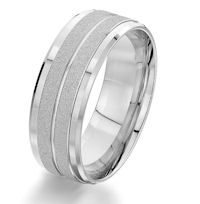 Item # G87207W - 14Kt White Gold Wedding Ring