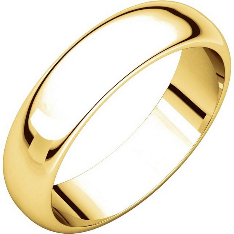 Item # H112945E - 18K Yellow Gold 5mm Wedding Band View-1