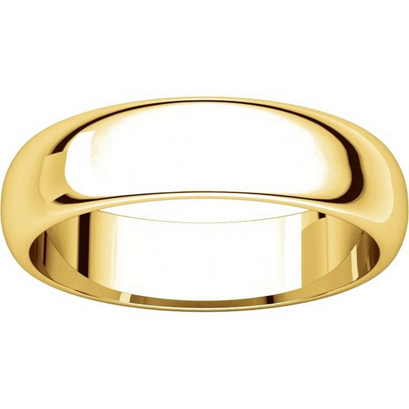Item # H112945E - 18K Yellow Gold 5mm Wedding Band View-3