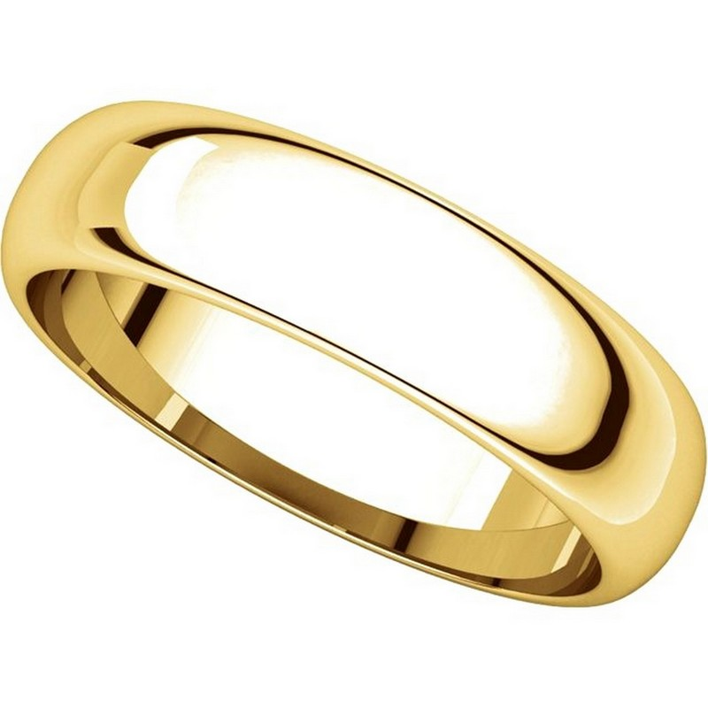 Item # H112945E - 18K Yellow Gold 5mm Wedding Band View-4