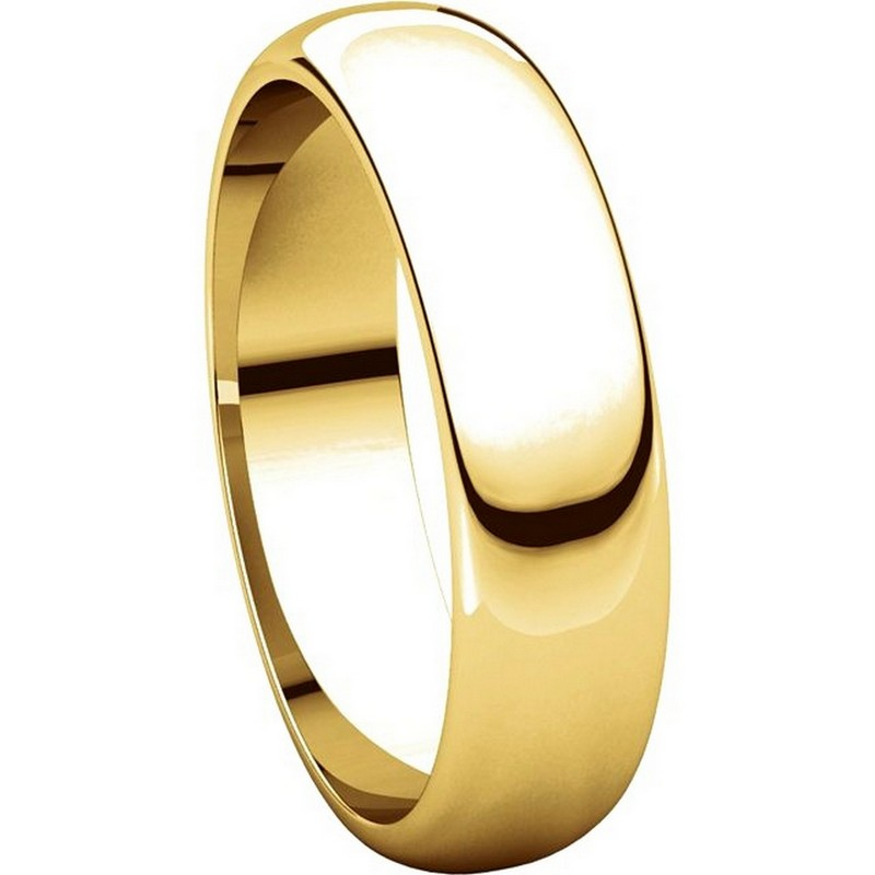 Item # H112945E - 18K Yellow Gold 5mm Wedding Band View-5