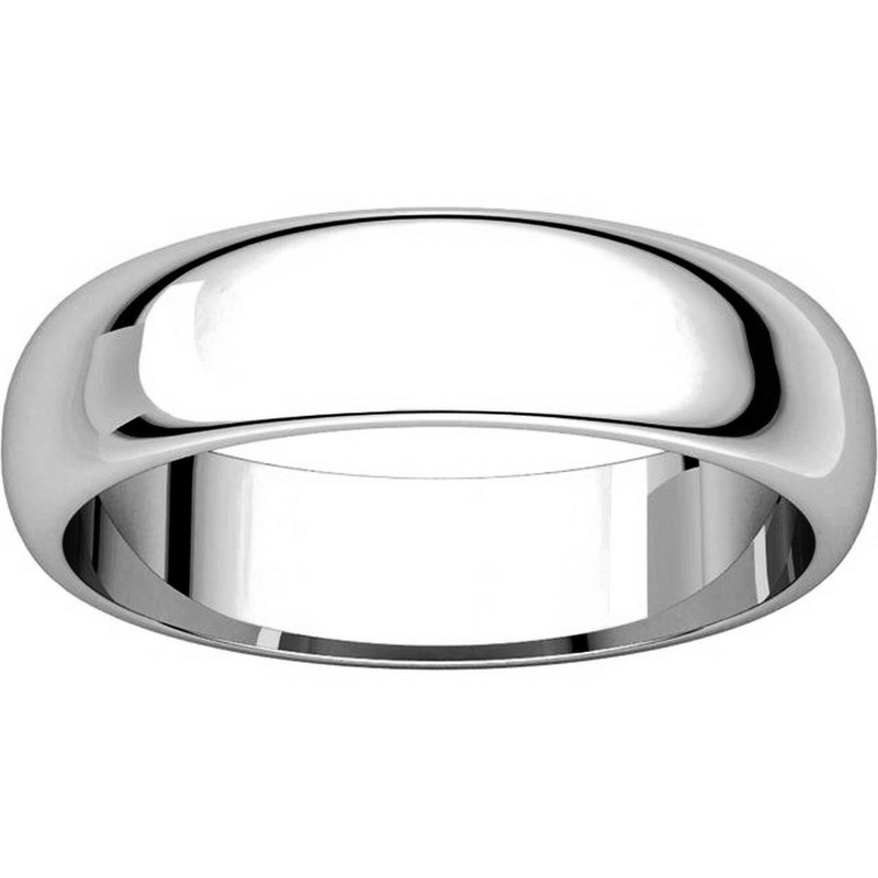 Item # H112945PP - Platinum 5mm Wide His and Hers Wedding Ring View-3