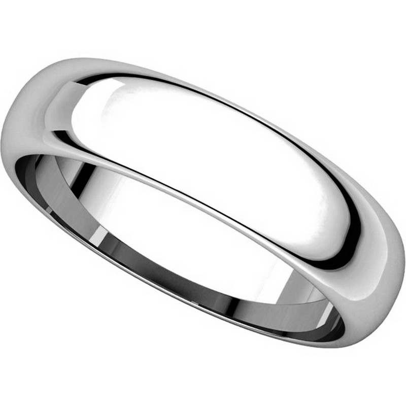 Item # H112945PP - Platinum 5mm Wide His and Hers Wedding Ring View-4