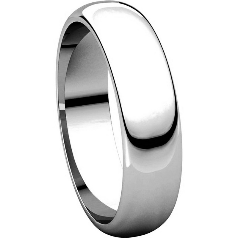 Item # H112945PP - Platinum 5mm Wide His and Hers Wedding Ring View-5