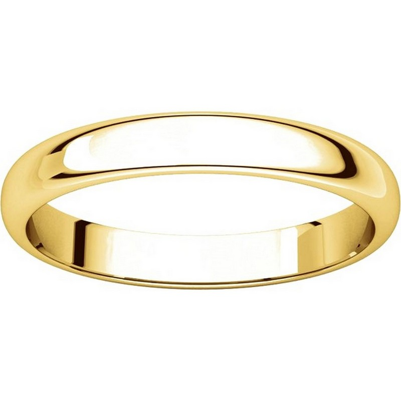 Item # H114853 - 14K Plain Wedding Band Yellow Gold High Dome View-3