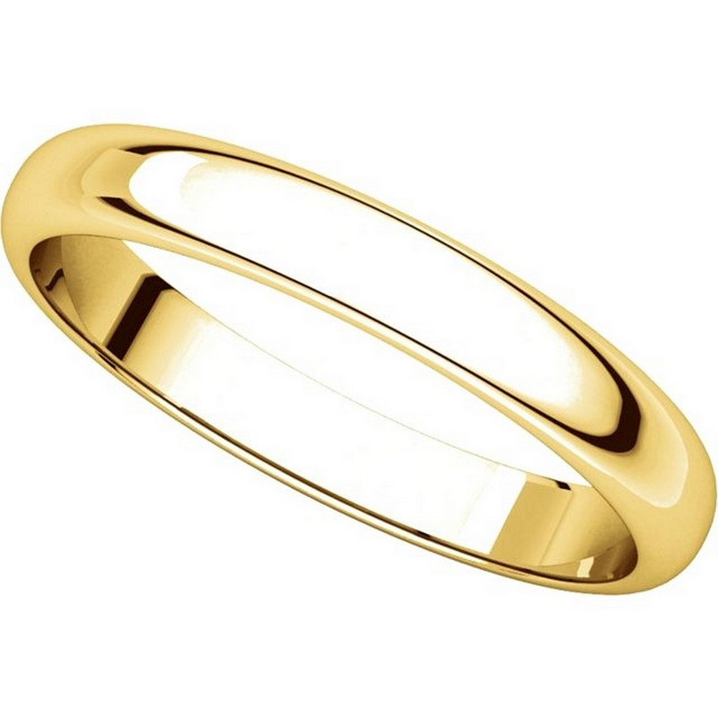 Item # H114853 - 14K Plain Wedding Band Yellow Gold High Dome View-4