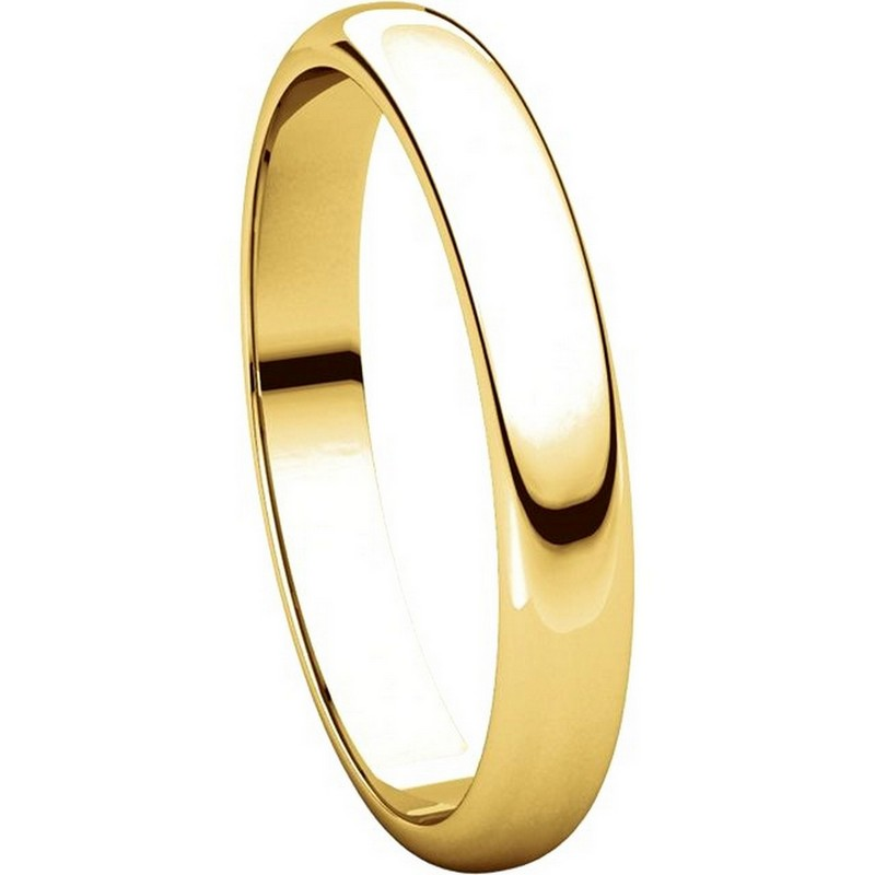 Item # H114853 - 14K Plain Wedding Band Yellow Gold High Dome View-5