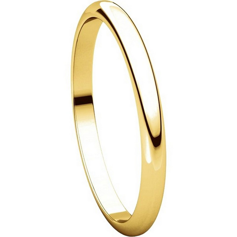 Item # H116762 - 14K Yellow Gold High Dome Plain Wedding Band View-5