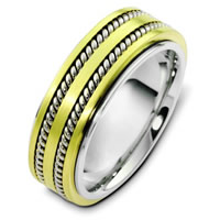 Platinum and 18K Yellow Gold Wedding Ring