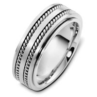 Item # H125571WE - 18K White Gold Wedding Band