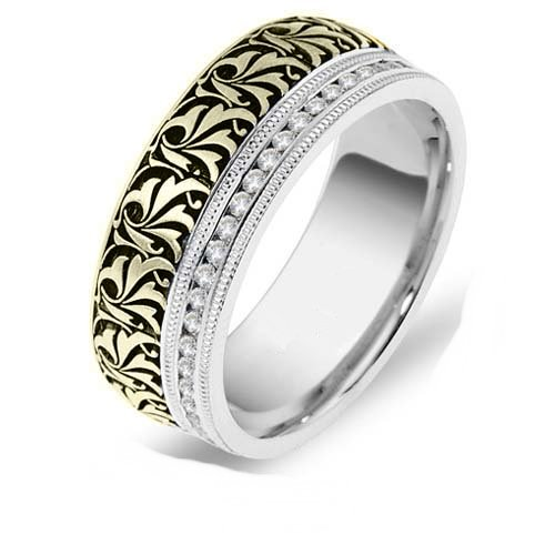 18K Two Tone Juliet Wedding Band