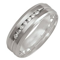 Item # M305997W - 14K Diamond Wedding Band