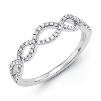 Item # M30840WE - White Gold 0.24 Ct Tw Diamond Infinity Ring