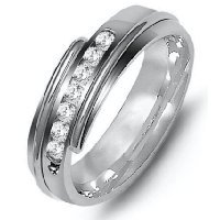 Item # M316327PP - Platinum Diamond Wedding Band