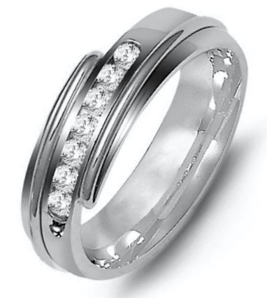 14K Diamond Wedding Band