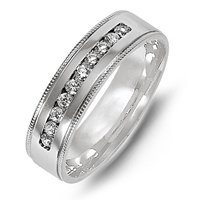 18K Diamond Wedding Band