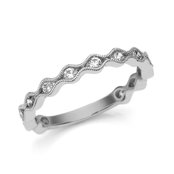 White Gold 0.33 Ct Tw Diamond Stackable Ring
