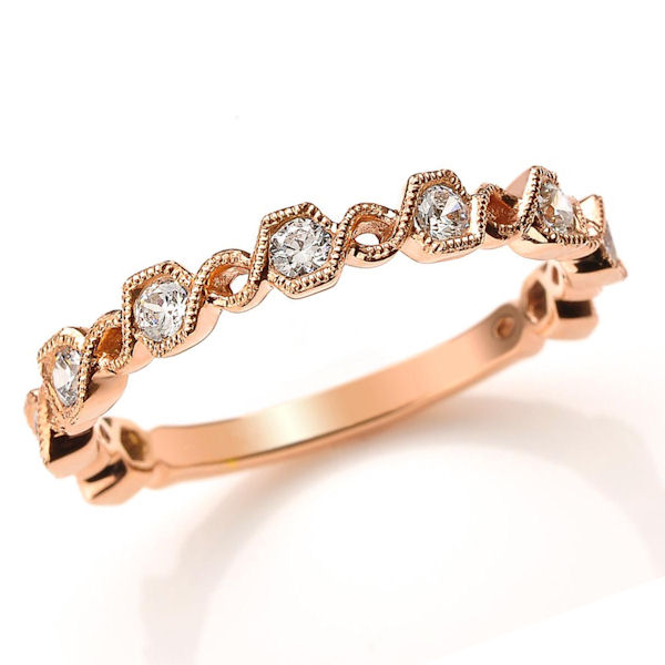 Rose Gold 0.36 Ct Tw Diamond Stackable Ring