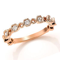 Item # M31890RE - Rose Gold 0.36 Ct Tw Diamond Stackable Ring