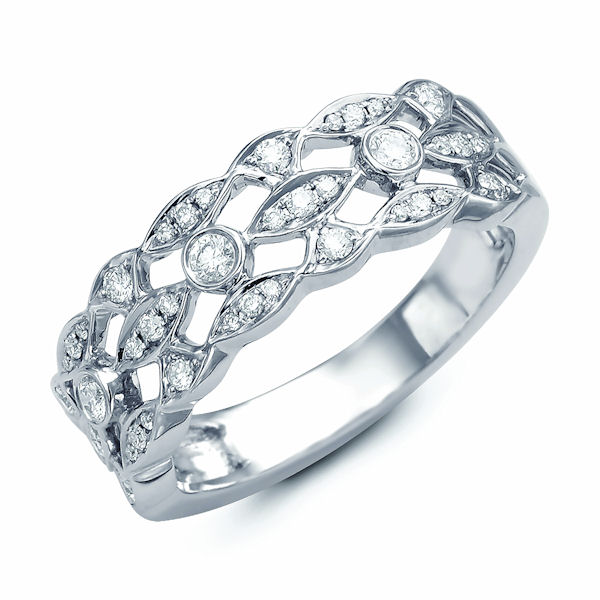 14Kt White Gold 0.30 Ct Tw Diamond Ring