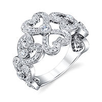 Item # M31964WE - 18Kt White Gold 0.62 Ct Tw Diamond Ring