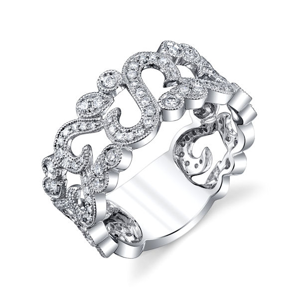 Platinum 0.55 Ct Tw Diamond Fashion Ring