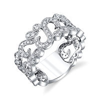 Item # M32097WE - 18Kt White Gold 0.55 Ct Diamond Fashion Ring