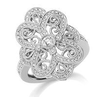 Item # M32098WE - 18Kt White Gold 0.50 Ct Diamond Fashion Ring