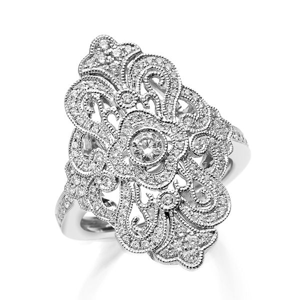 White Gold 0.50 Ct Tw Diamond Fashion Ring