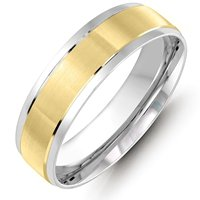 Item # M36088E - Two-Tone Gold Wedding Band