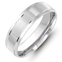 Item # M36088W - White Gold Wedding Band